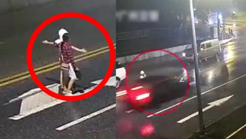 """男子当街演示""""如何被车撞"""",竟害女友被撞身亡!""""作妖""""男友被判刑"""