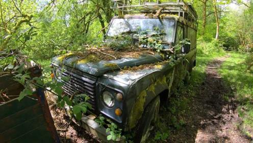 农民在森林里打猎,发现一辆20年前的路虎,靠近一看赚大了!