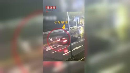 广东情侣马路中间吵架女友被撞 男友被判