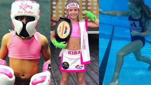 10岁的拳击天才女孩,训练花样太全面,小小年纪活的就像开挂了!