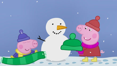 熊二佩奇举行打雪仗比赛 苏西瑞贝卡帮助佩奇三对一打败熊二 玩具故事