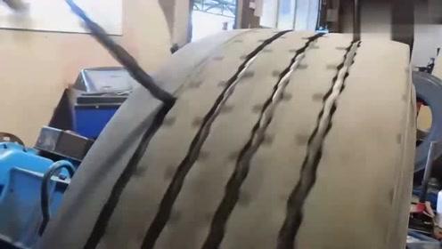 原来废弃的轮胎是这样处理的,好像很好玩的样子,看得我都想动手整一下了