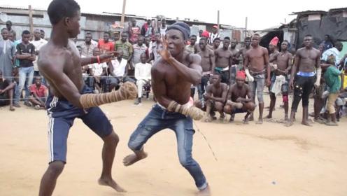 """最原始的""""非洲拳击比赛"""",动作简单粗暴,全程高能又精彩!"""