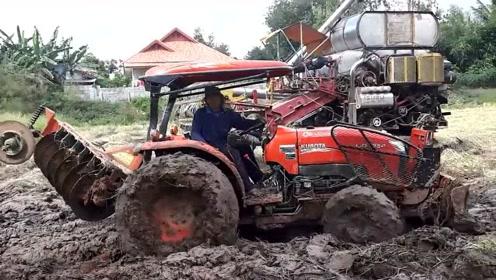 这就是日本产拖拉机的性能,太狂暴了!