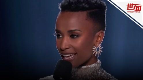 """南非佳丽获封2019""""环球小姐"""":我的皮肤和卷发从未被认为美丽"""