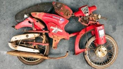 摩托车翻新修复过程,这手艺太牛了,不服不行!