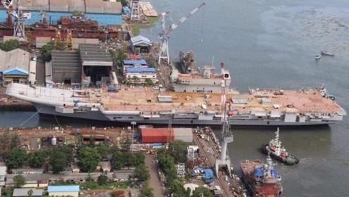 印度航母建造终于进入全新阶段,一口价300亿,成本已暴涨6倍