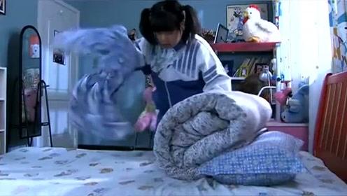胖女儿来例假把床单染了,细心后妈为她换了新的,胖女儿瞬间感动