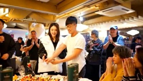 林峯40岁生日获张馨月探班 甜蜜依偎同切蛋糕显恩爱