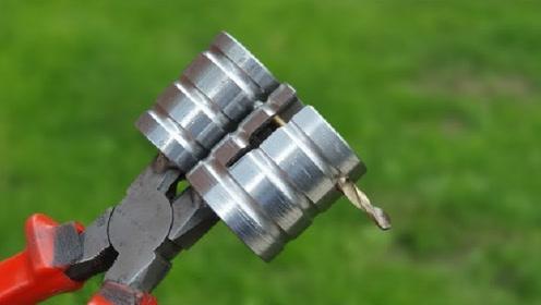 在钳子上面焊2根钢管,就有这么好的用途,真是高手在民间