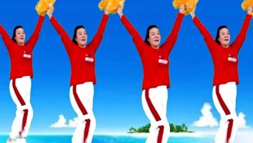 蝶舞芳香广场舞《新年快乐歌》喜庆动感花球健身舞教学