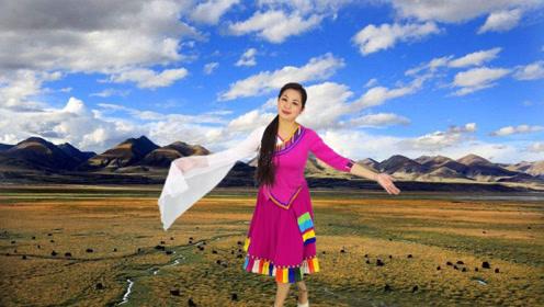 锦瑟舞语-吉祥欢快的藏族舞《迎酒欢歌》编舞:邓斌