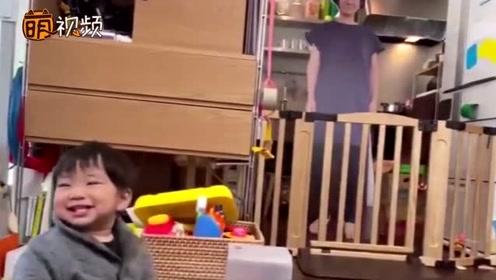 """""""妈妈""""在就安心!宝宝离开妈妈大哭 爸爸制作人形立牌效果奇佳"""