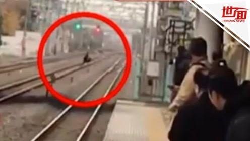 男子在电车内耍流氓后跳下站台 铁轨上狂奔100多米逃走