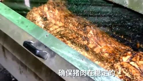 伦敦街头霸气美食,想吃先等8小时,网友:这不是中国的肉夹馍?