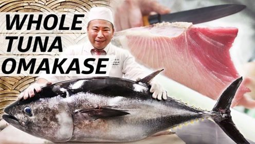 看日本顶级大厨是怎么处理金枪鱼肉的?可不能眨眼,不然后悔了