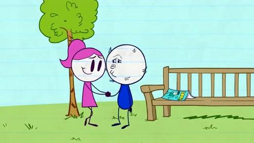 创意动漫搞笑铅笔动画,铅笔人整容没成功,但女友爱他如初