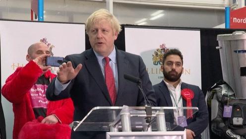 英国大选!保守党赢议会绝对多数席位 首相约翰逊获连任