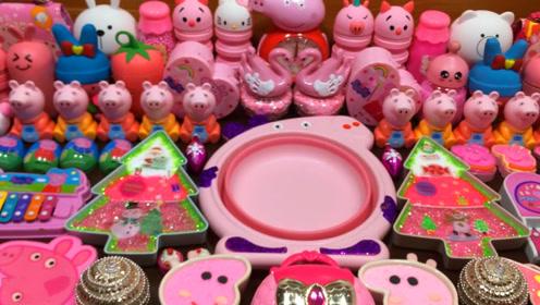 粉色无硼砂史莱姆教程,凯蒂猫彩泥+珍珠米粒泥+菠萝果冻泥,手感Q弹超棒