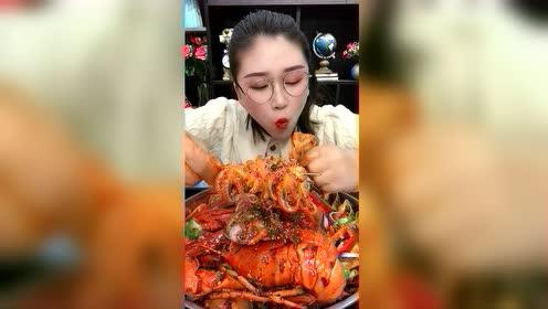 海鲜吃播:迷你八爪鱼花