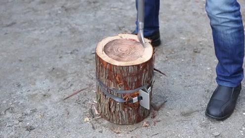 木头外面绑根绳子,原来还有这么牛的用途,涨见识了