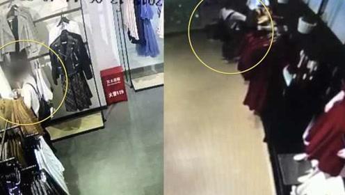 女子多次偷商场做贼心虚,听说店主报警,偷偷还赃物当场被抓