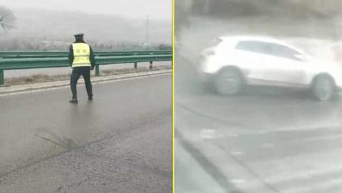 出行注意!气温骤降宁夏甘肃多地路面结冰,交警亲测路有多滑