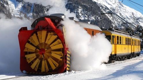 火车除雪机是怎么除雪的?一天除雪500吨!颠覆你的认知!