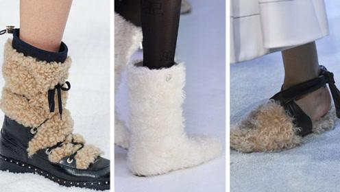 2020秋冬女鞋流行趋势 羊毛覆盖的创意靴 打造独特时尚轮廓