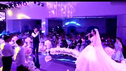 新郎新娘对唱杨宗纬、张碧晨的《凉凉》听了耳朵真的会怀孕