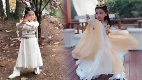 阿拉蕾身着古装似仙女 董力:我闺女就是好看