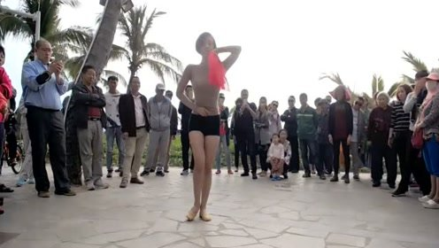 美女身材超棒,跳起舞来也不差