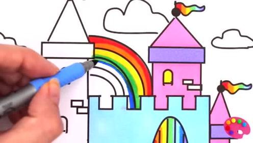 亲子早教简笔画学习颜色 画冰淇淋甜筒雪糕