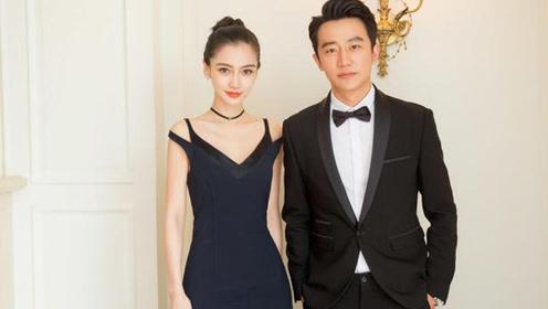 Angelababy黄轩首次合作 优雅长裙绅士西装配一脸