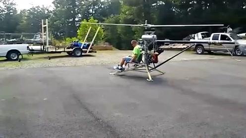 牛人自己做的直升飞机,什么叫高手在民间!