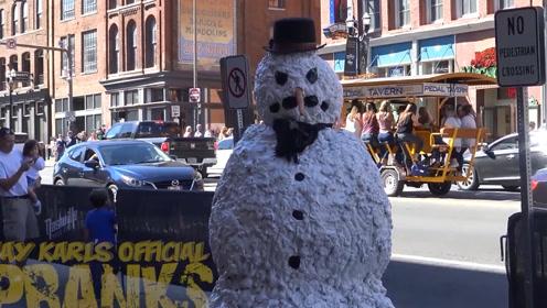 吓人的雪人在纳什维尔