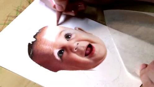 彩铅画一个可爱的宝宝,比高清打印机还牛