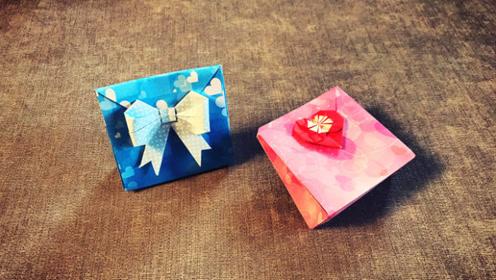 手工折纸 diy一款简单又实用的纸袋折纸