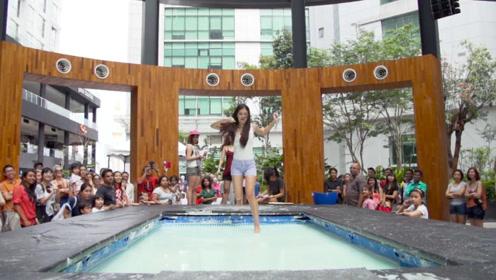 马来西亚上演水上漂,你真的可以在水面跑步哦!