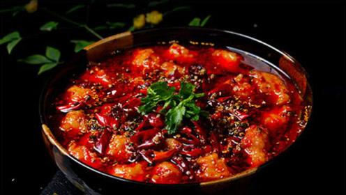 浓郁四川风味的水煮虾滑