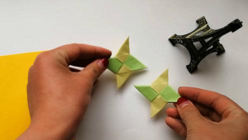 忍者风范,暗器手里剑折纸,儿童手工视频教程