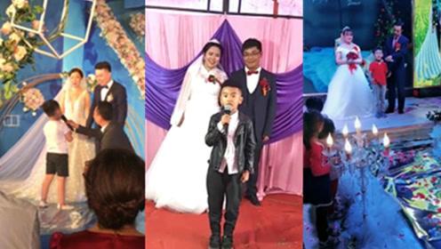 这小外甥说的没毛病,这些孩子抢光了新郎新娘的风头