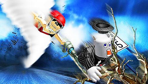 屌德斯&小熙 Roblox龙卷风生存模拟器 多重龙卷风简直壮观!