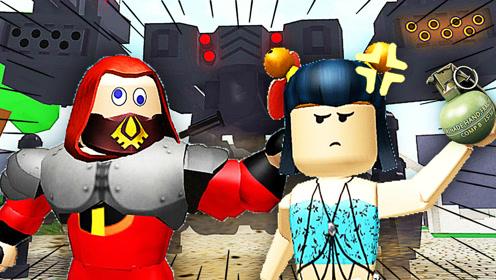 屌德斯&小熙 Roblox旅游巴士模拟器 超人总动员大战战争机器人