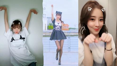 网红冯提莫和代古拉k齐跳《学猫叫》谁更可爱呢?