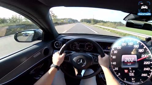 第一视角 2019 梅赛德斯 奔驰 E Class E200 高速公路 最高速度