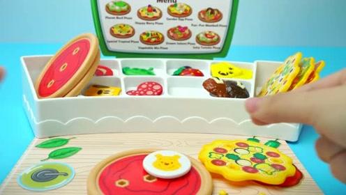 《奇奇和悦悦的玩具》迪士尼旋转烤炉做卡通香肠美味披萨