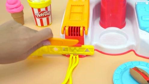 《奇奇和悦悦的玩具》培乐多爆米花机套装做热狗和饼干