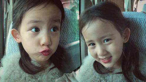 孙莉分享小女儿表情包,黄磊称多妹假笑女孩,嘟嘴表情和爸爸超像