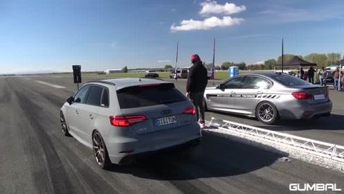 550马力的RS3 vs 740马力的宝马M6,你觉得谁会赢?